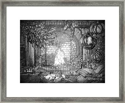 The Night Before Christmas Part One Framed Print by Frankie  Caron