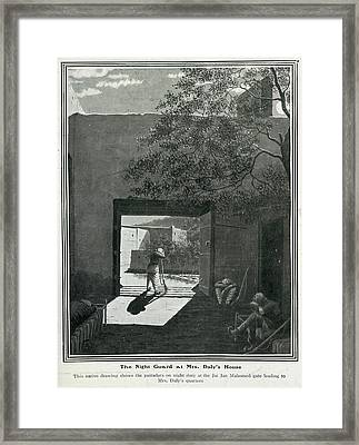 The Night Guard Framed Print by British Library