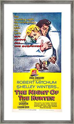 The Night Of The Hunter, Top L-r Framed Print by Everett