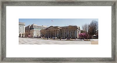 The North Face Of The U.s. Treasury Framed Print by Panoramic Images