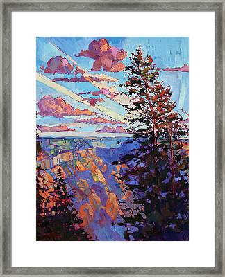 The North Rim Hexaptych - Panel 4 Framed Print by Erin Hanson