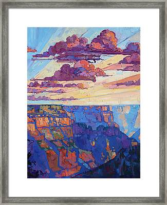 The North Rim Hexaptych - Panel 5 Framed Print by Erin Hanson