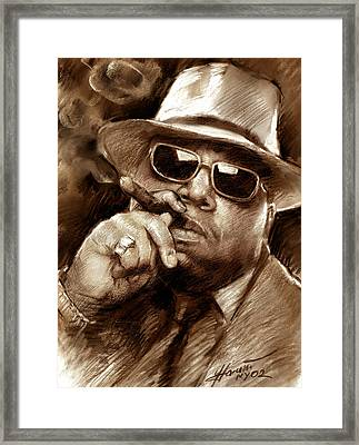 The Notorious B.i.g. Framed Print by Viola El
