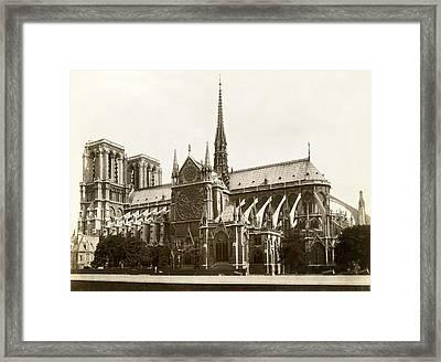 The Notre Dame De Paris Framed Print by Jules Hautecoeur