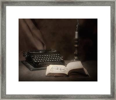 The Novelist Still Life Framed Print by Tom Mc Nemar