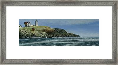 The Nubble Framed Print by Nan McCarthy