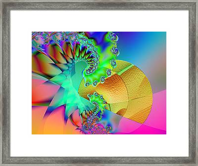The Nudge Framed Print by Wendy J St Christopher