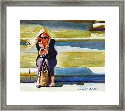 The Nyc Lady Framed Print by Graham Berry