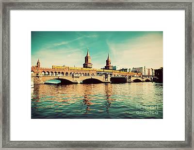 The Oberbaum Bridge In Berlin Germany Framed Print by Michal Bednarek
