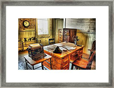 The Office Framed Print by Cheryl Young