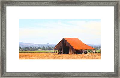 The Old Barn 5d24404 Long Framed Print by Wingsdomain Art and Photography