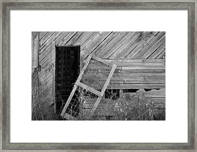 The Old Barn Framed Print by Mary Ely