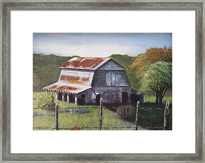 The Old Barn Framed Print by Melissa Torres