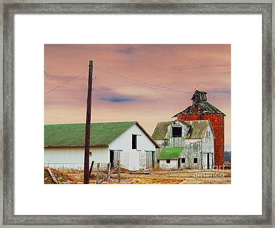 The Old Barns Framed Print by Alys Caviness-Gober