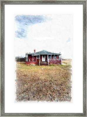 The Old Beach Cottage Framed Print by Edward Fielding