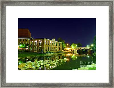 The Old Carriage House In Downtown Greenville Sc Framed Print by Willie Harper