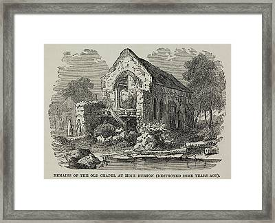 The Old Chapel At High Burton Framed Print by British Library