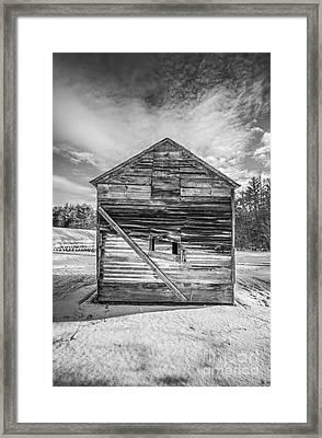 The Old Corn Crib Framed Print by Edward Fielding