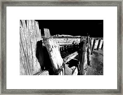 The Old Corral Framed Print by Cat Connor