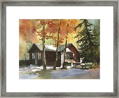 The Old Cottage Framed Print by Kris Parins