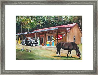 The Old Country Store Framed Print by Eve  Wheeler