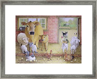 The Old Days Oil On Canvas Framed Print by Pat Scott