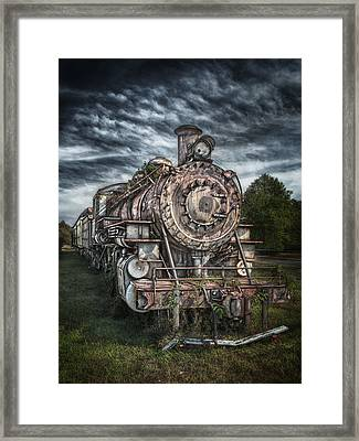 The Old Depot Train Framed Print by Brenda Bryant