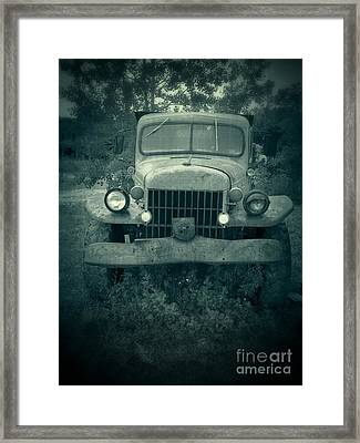The Old Dodge Framed Print by Edward Fielding