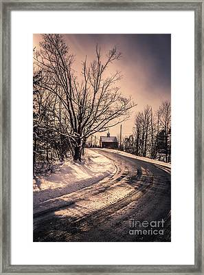 The Old Farm Down The Road Framed Print by Edward Fielding