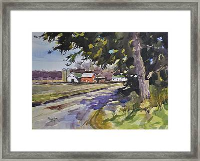 The Old Farm Lane Framed Print by Spencer Meagher
