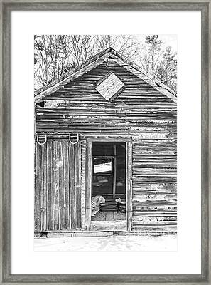 The Old Farm Shed Framed Print by Edward Fielding