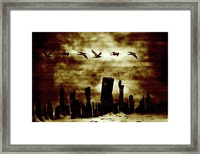 The Old Fence  Framed Print by Toppart Sweden