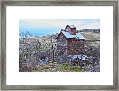 The Old Grain Storage Framed Print by Steve McKinzie