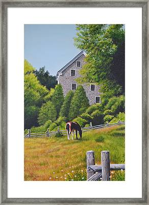 The Old Grist Mill Framed Print by Dave Hasler