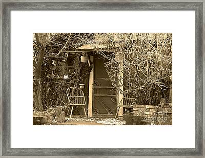 The Old House In Genoa Nevada Framed Print by Artist and Photographer Laura Wrede