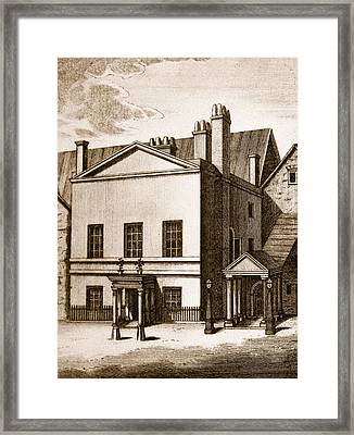 The Old House Of Lords Framed Print by English School