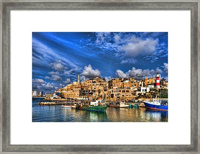 the old Jaffa port Framed Print by Ron Shoshani