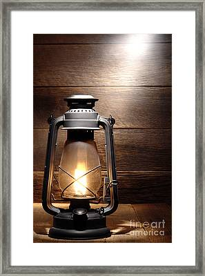 The Old Lamp Framed Print by Olivier Le Queinec