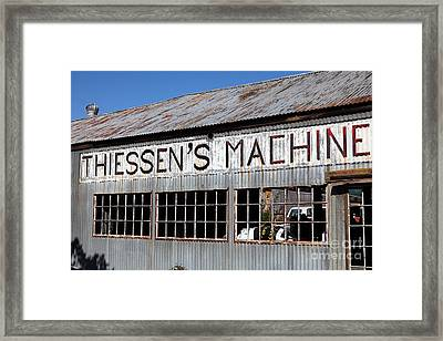 The Old Machine And Welding Shop Pleasanton California 5d23982 Framed Print by Wingsdomain Art and Photography
