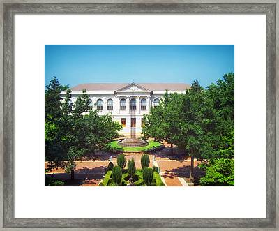 The Old Main - University Of Arkansas Framed Print by Mountain Dreams