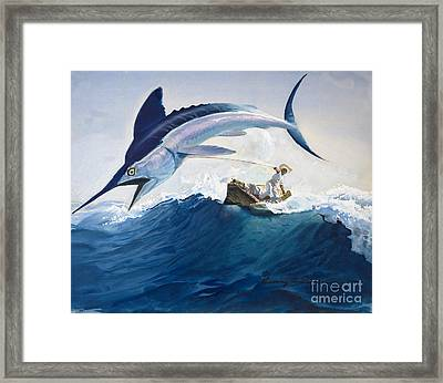 The Old Man And The Sea Framed Print by Harry G Seabright