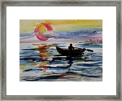 The Old Man And The Sea Framed Print by Xueling Zou