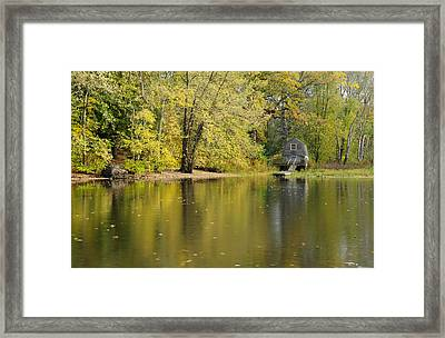The Old Manse Boathouse Framed Print by Luke Moore