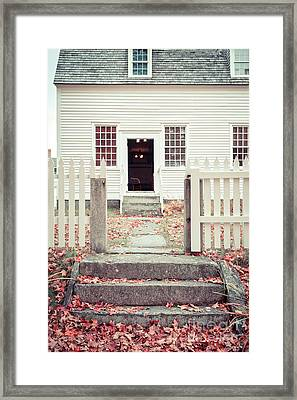 The Old Meeting House Canterbury Shaker Village Framed Print by Edward Fielding
