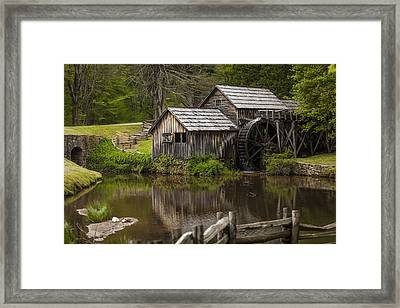 The Old Mill After The Rain Framed Print by Amber Kresge