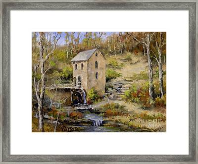 The Old Mill In Late Fall Framed Print by Virginia Potter