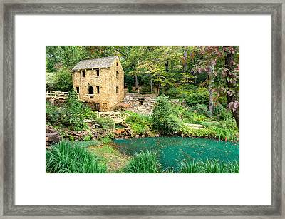The Old Mill - North Little Rock - Pugh's Mill 1832 Framed Print by Gregory Ballos
