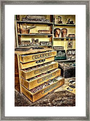 The Old Notions Shop Framed Print by Olivier Le Queinec