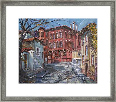 The Old Plovdiv - Autumn Sun Framed Print by Stefano Popovski