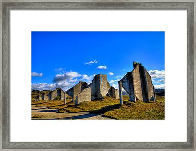 The Old Quarry At #18 - Chambers Bay Golf Course Framed Print by David Patterson